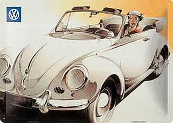VW Cabrio Blechschild - Vorschau