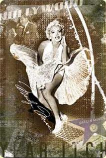 Marilyn Monroe Luftschacht Blechschild - Vorschau