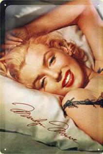 Marilyn Monroe Kopfkissen Blechschild