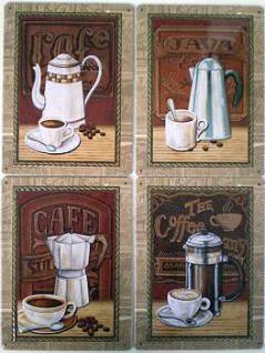 Coffee Blechschilder-Set (4 Schilder)