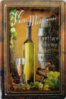 Vino Mediterrano No.1 Blechschild - Vorschau