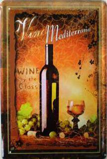 Vino Mediterrano No.2 Blechschild - Vorschau