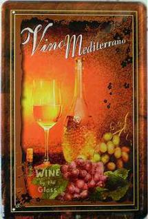 Vino Mediterrano No.4 Blechschild