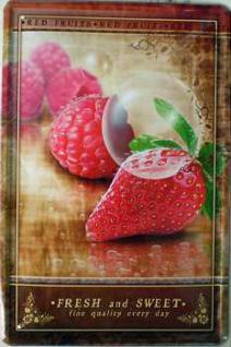 Fresh & Sweet Erdbeere Blechschild - Vorschau