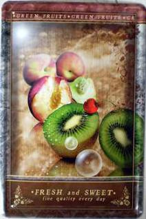 Fresh & Sweet Kiwi Blechschild