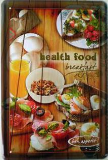 Breakfast Health Food Blechschild - Vorschau