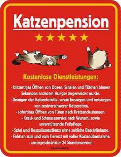 Funschild Katzenpension - Vorschau