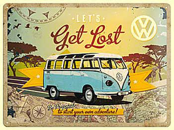 VW - Let's Get Lost Blechschild