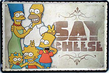 Simpsons - Say Cheese Beer Blechschild