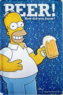 Simpsons - Beer! Blechschild