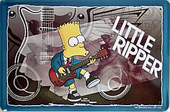 Simpsons - Little Ripper Beer Blechschild