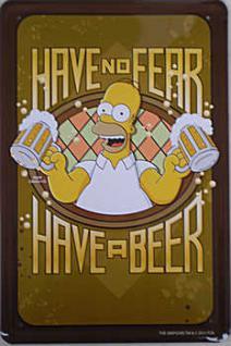 Simpsons - No Fear Blechschild