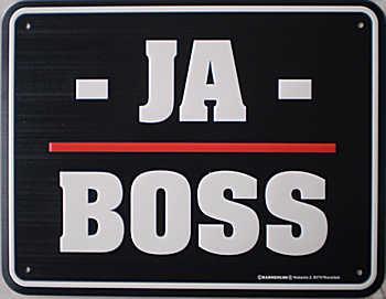 Funschild Ja Boss - Vorschau