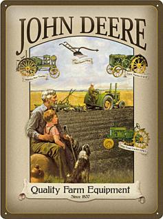 John Deere Grandfather Blechschild - Vorschau