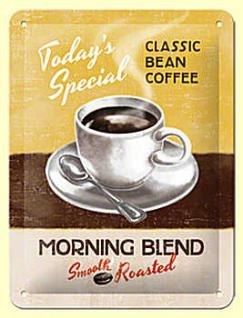 Classic Bean Coffee - Morning Blend Blechschild - Vorschau