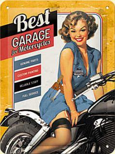 Best Garage yellow Blechschild