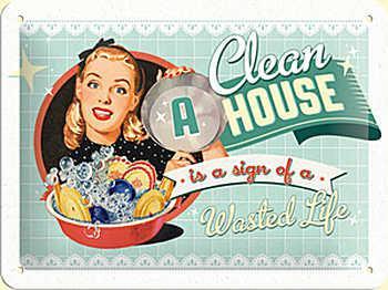 Fifties - A Clean House is a Sign of a Wasted Life Blechschild - Vorschau