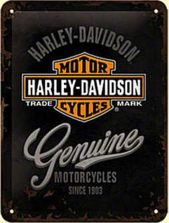 Harley-Davidson Genuine Logo Blechschild