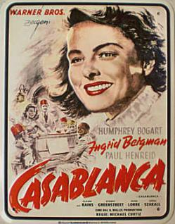 Ingrid Bergmann - Casablanca Blechschild - Vorschau