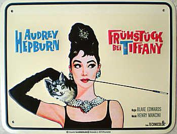 Audrey Hepburn - Frühstück bei Tiffany Blechschild - Vorschau
