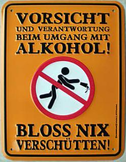 Fun-Schild Vorsicht und Verantwortung - Vorschau