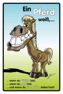 Ein Pferd weiß... Blechschild - Vorschau
