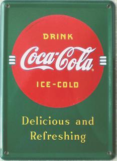 Coca Cola Delicious and Refreshing Mini Blechschild
