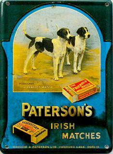 Paterson's Irish Matches Mini Blechschild - Vorschau