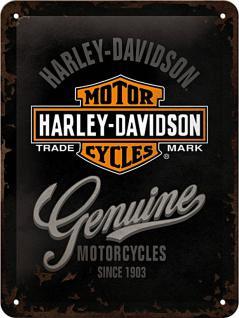 Harley-Davidson - Genuine Logo Blechschild - Vorschau