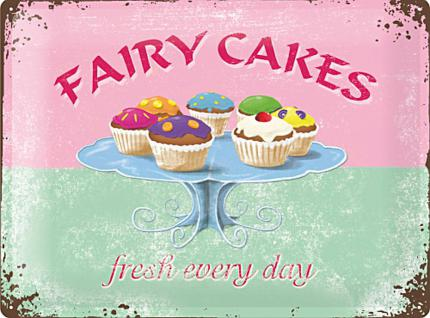 Fairy Cakes Blechschild (20 x 15 cm) - Vorschau