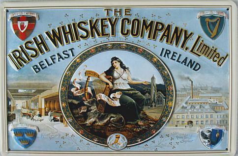 Irish Whiskey Company Blechschild