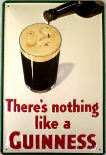 Guinness There's nothing like Blechschild