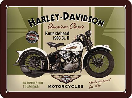 Harley-Davidson - Knucklehead Blechschild - Vorschau