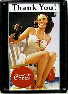 Coca Cola Thank You Mini Blechschild