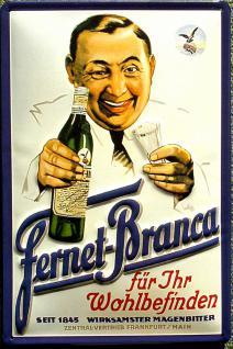 Fernet-Branca Blechschild - Vorschau