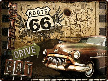Route 66 Road Trip Blechschild