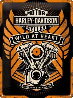 Harley-Davidson - Wild at Heart Blechschild