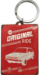 Schlüsselanhänger - VW Golf The Original Ride - Vorschau