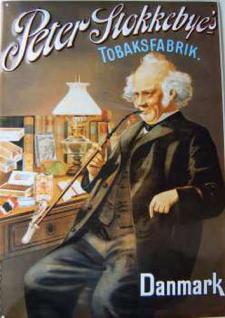 Peter Stokkebye's Tobaksfabrik Blechschild - Vorschau