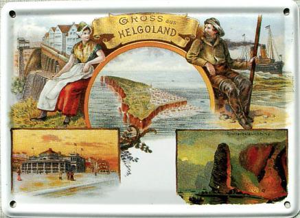Helgoland Gruss aus Helgoland Mini-Blechschild