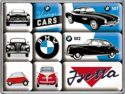 Magnet-Set BMW Vintage Cars