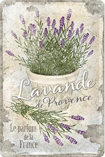 Lavande de Provence Blechschild - Vorschau