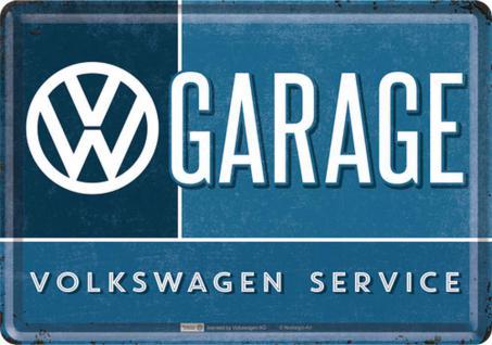 Blechpostkarte VW - Garage