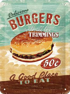 Burgers Blechschild (15 x 20 cm) - Vorschau