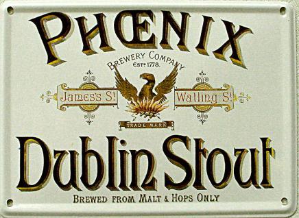 Phoenix Dublin Stout Mini Blechschild - Vorschau