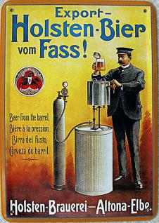 Blechpostkarte Holsten-Bier vom Fass
