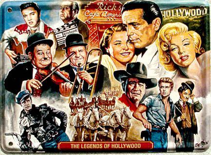 The Legends of Hollywood Mini Blechschild - Vorschau