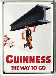 Guinness - the way to go (Stahlträger) Mini-Blechschild