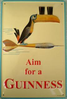 Guinness Aim for a Guinness Blechschild