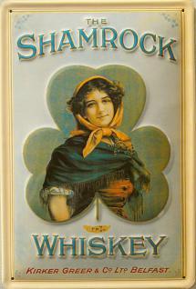 Shamrock Whiskey Blechschild - Vorschau